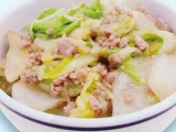 【主食】白菜とひき肉のあんかけ丼