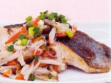 【主菜】白身魚のソテー 和風きのこソース